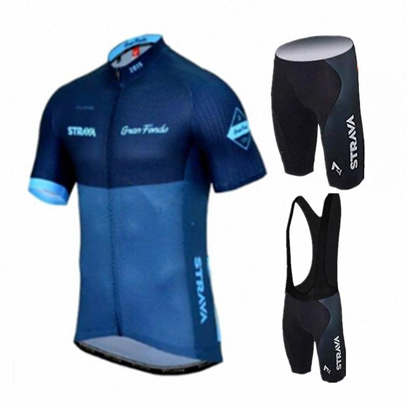 Radtrikot 2020 Pro Team strava Radfahren Set Damen Herren mit kurzen Ärmeln Kleidung Sportbekleidung Outdoor-Mtb Ropa Ciclismo 9IFv #
