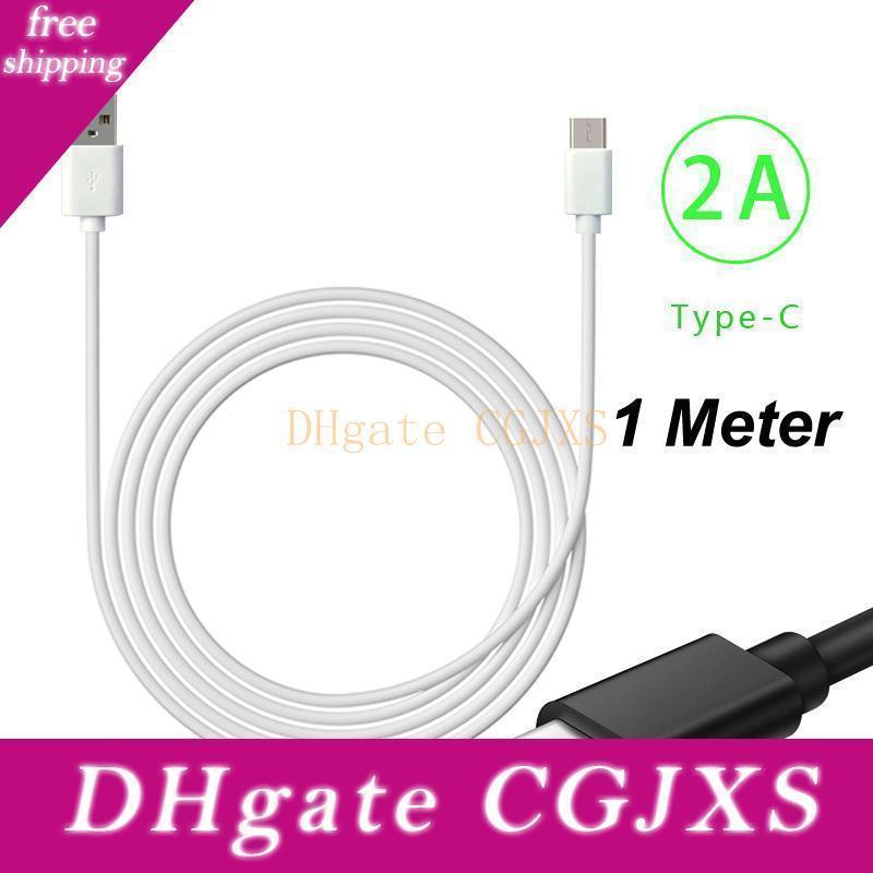 Una di alta qualità 1m 3 piedi 2a cavi USB Cable Type C Micro Android veloce del caricatore di dati di carica per Samsung Galaxy Note 10 Plus