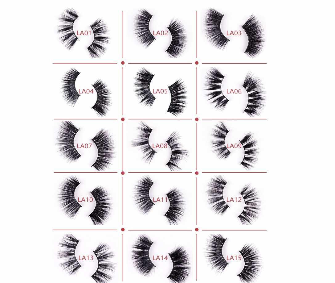 25 ملليمتر 3d المنك الرموش الرموش الصناعية 100٪ المنك رمش تمديد 5d المنك جلدة سميكة طويلة الدراماتيكية العين الرموش