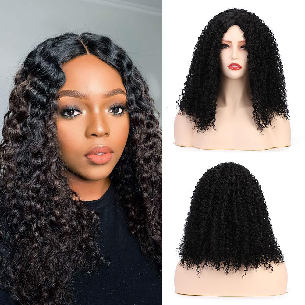 Europeo y americano caliente-venta de africanos pequeñas damas rizado el pelo largo y rizado tocado rizado pelucas sintéticas