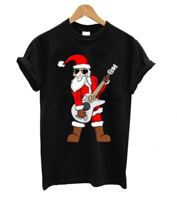 Estrela do rock do Papai Noel Pai Natal Camiseta
