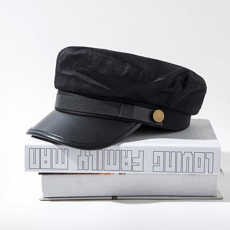 Nuovo modo caldo autunno donne del cappello del cowboy di stile britannico caldo Cappelli Retro Berretto ottagonale Cap femminile visiera