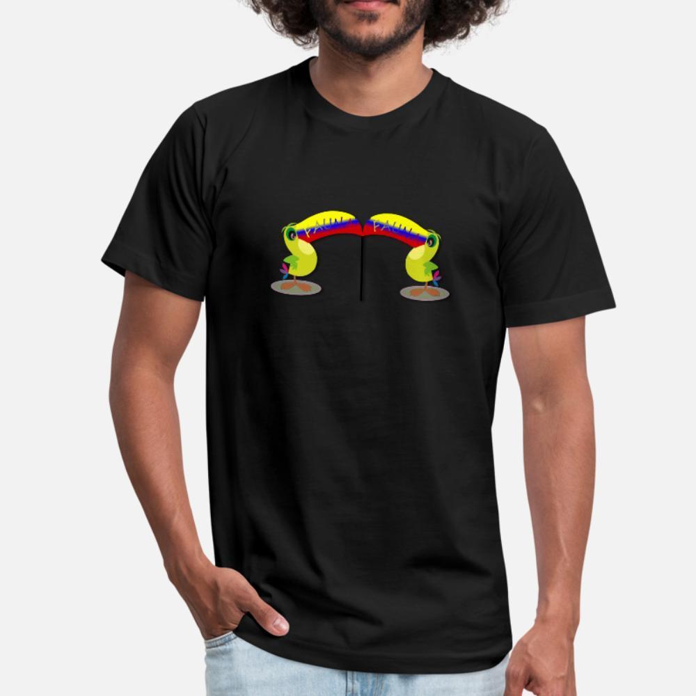 Kolumbien T-Shirt Männer Druck 100% Baumwolle S-3xl Muster Sonnenlicht Lustig Frühling und Herbst-Muster-Hemd