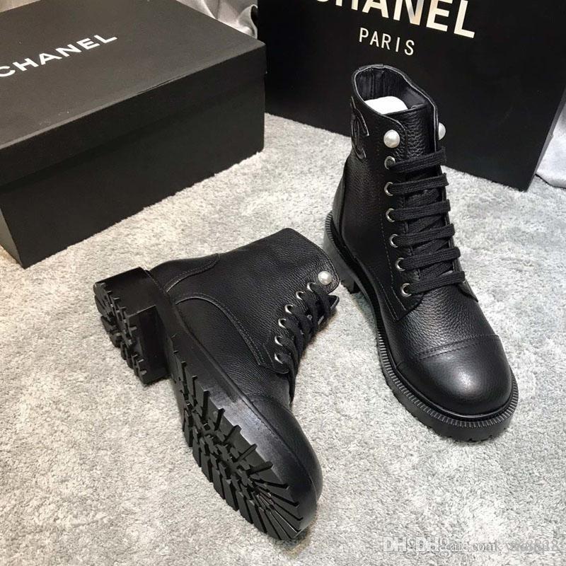 Chanel 2020 senhoras nova moda de luxo botas curtas das mulheres à moda de couro confortáveis curto botas de cores motocicleta Martin tamanho 35-41 CH