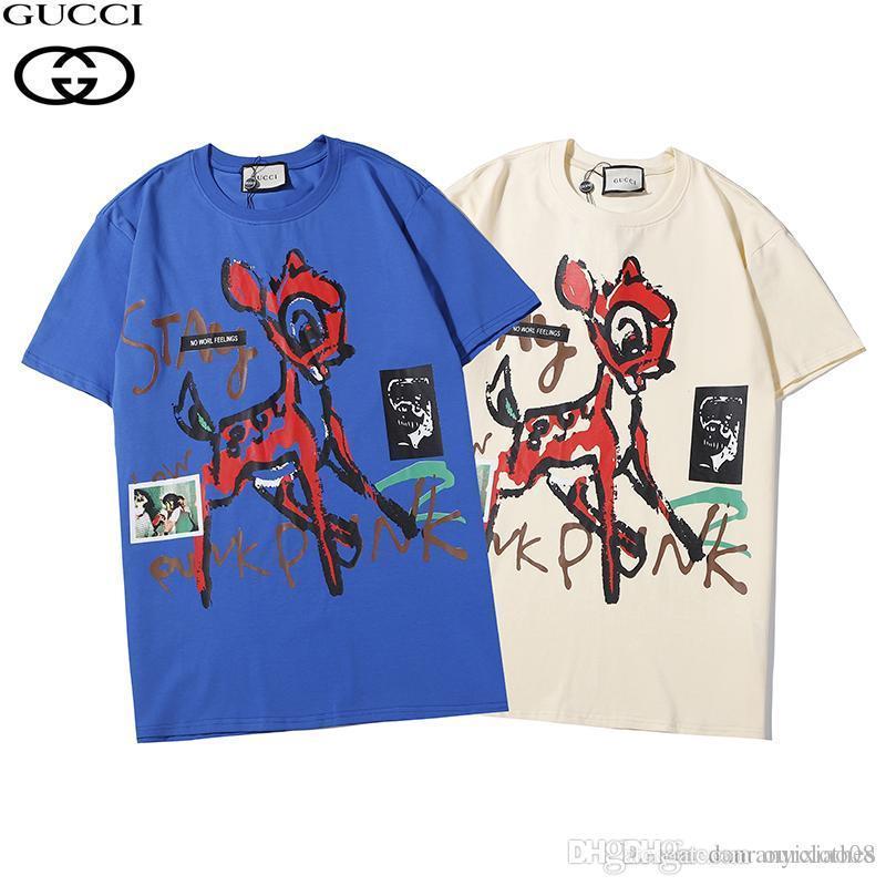 Hombres Designered la moda camisas de lujo camiseta de los hombres de las mujeres marca Hip Top camisetas de manga corta de verano para hombre Hip Streetwear 2.020 # 1312