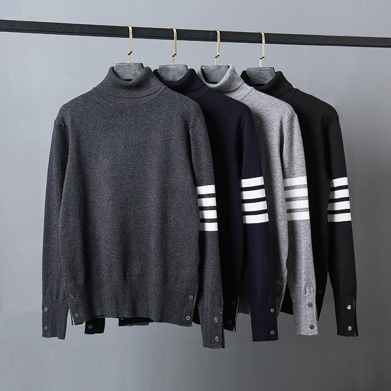 Männer und Frauen TB Turtleneckstrickjacke neue Wolle Basis Pullover Langarm-Pullover freies Verschiffen