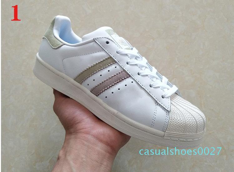 2Hot En kaliteli kadın erkek yeni stan ayakkabılar moda klasik smith Casual daireler ayakkabı deri açık hava spor C27 sneakers