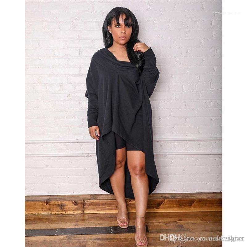 Dantelli Bayan Saf Renk Moda Elbiseler İlkbahar Sonbahar Tasarımcı Slash ile Boyun Bayan Elbise Günlük Gevşek Kadınlar Giyim