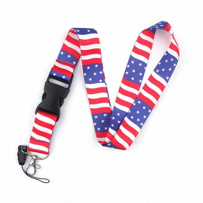Trump Телефон Флаг Lanyard сотворим Америка Снова сотовый телефон ремешок работы карты ожерелье Струны брелок Модные аксессуары T1I1980 YBHl #