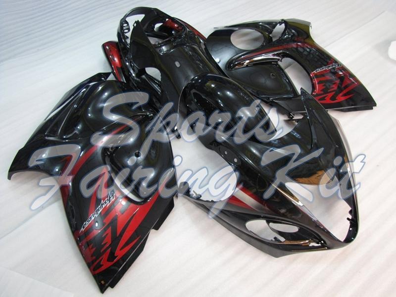 Carrocería para Gsx 1300R 2008-2014 Red Pearl líneas negras del carenado del ABS GSXR 1300 10 11 kits del carenado para Suzuki GSXR1300 10 11