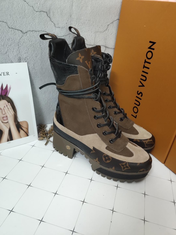 2019q superior del diseñador de lujo de calidad rayas impresas informal suela gruesa corto botas para mujer de suela gruesa Martin botas con cordones Botas corta EUR 35-42