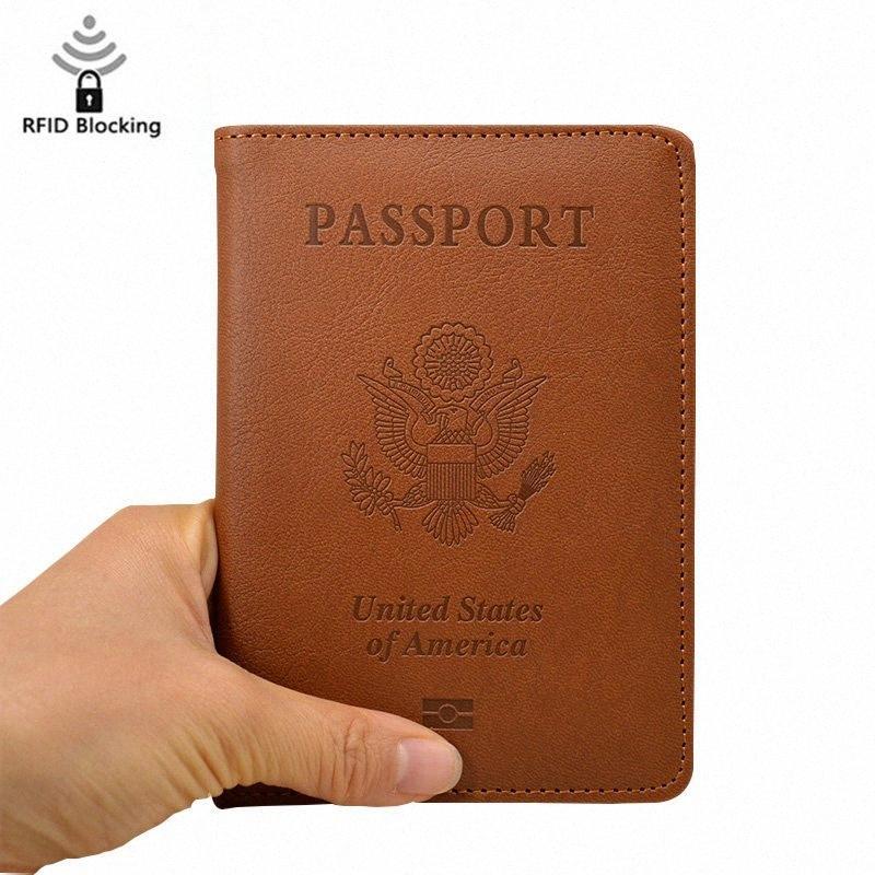 Владельца паспорт Женщина Антипробуксовочной загранпаспорт Дело США Pu кожаные чехлы для паспорта Организатор Несессер XXnJ #