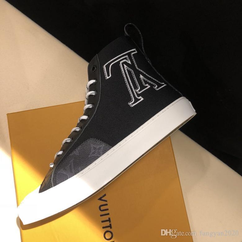 2019 neue Ankünfte Mens Fashion-Plattform-Schuhe Luxuxentwerfer Casual Male Gehen beiläufige Turnschuh-Trainer Männer Schuhe aus echtem Leder