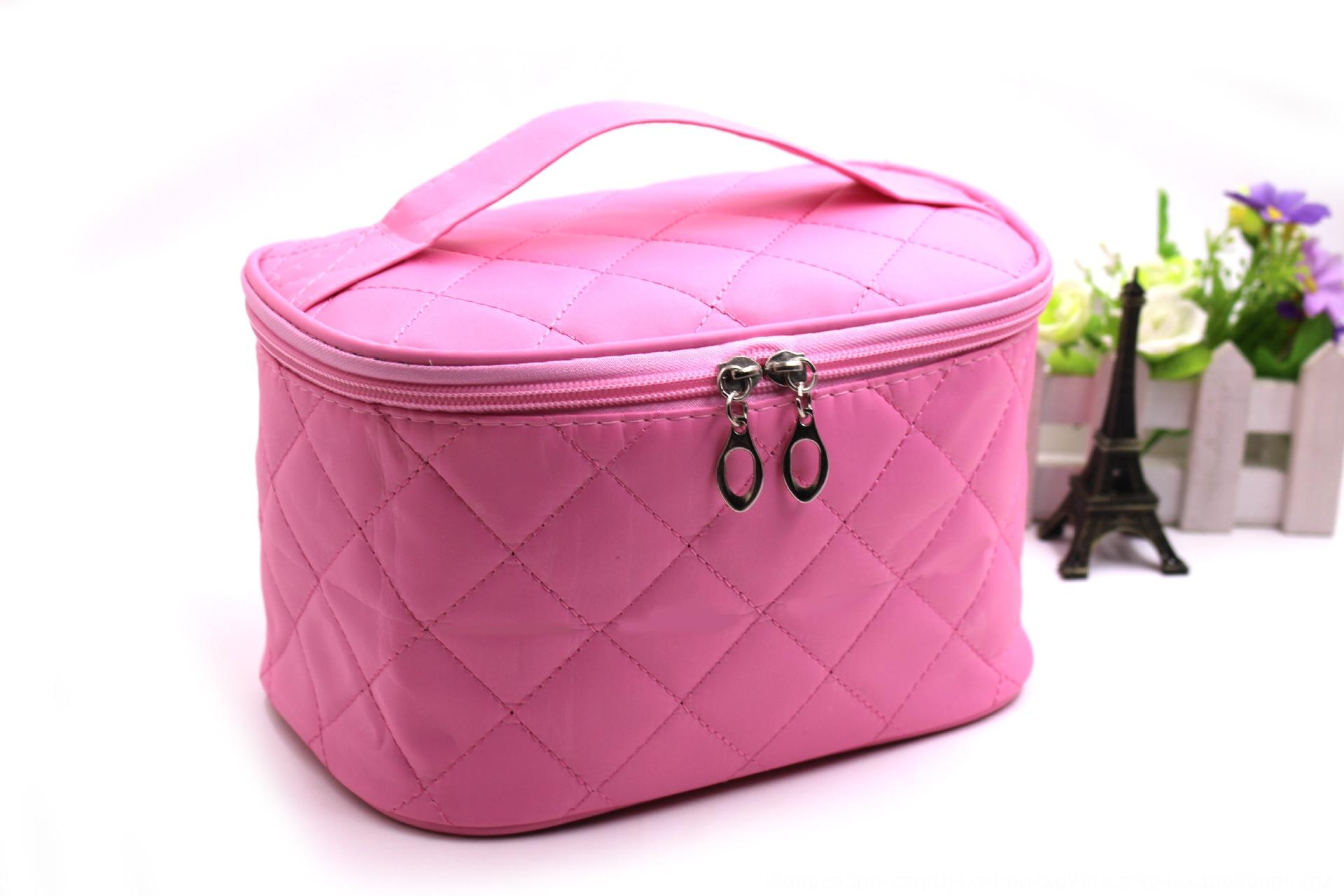 09ZVf Korean style diamond makeup Storage bagCosmetic Bag small bagquilted women's cosmetic portable mirror embroidered storage bag productio