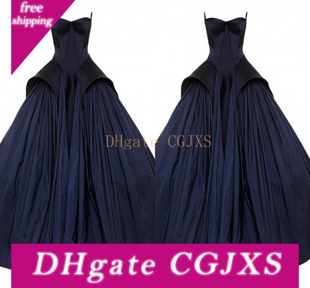 Vintage Noir robes de soirée robe de bal satin bretelles spaghetti Dessus de jupe longueur de plancher Robes de mariée gothique Custom Plus Size Robes De Soiree