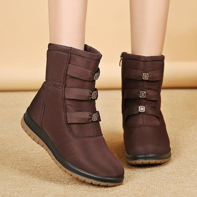 2020 Kadınlar Boots Sıcak Kadınlar Bilek Boots Kadın Kış Su geçirmez Kar Kış Ayakkabı Botaş Mujer Q843
