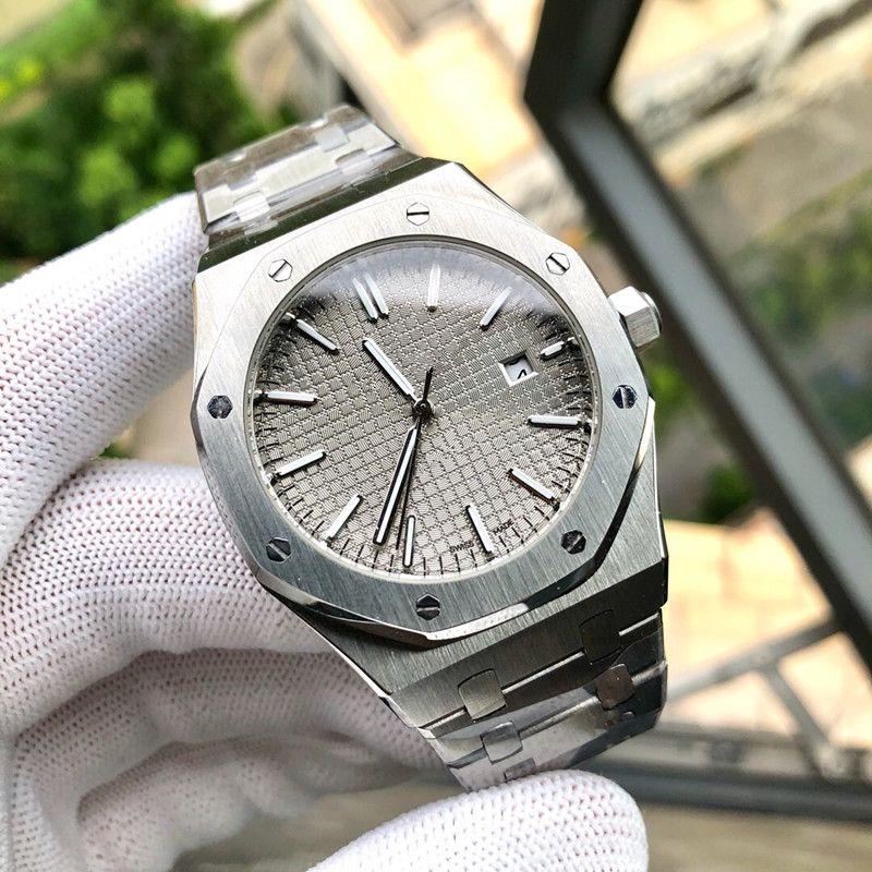 Audemars Piguet ap Из нержавеющей стали 316L Мужские часы календарь Полный автоматические механические часы мужчин движение 41x13mm Montre люксусный Orologio ди Lusso