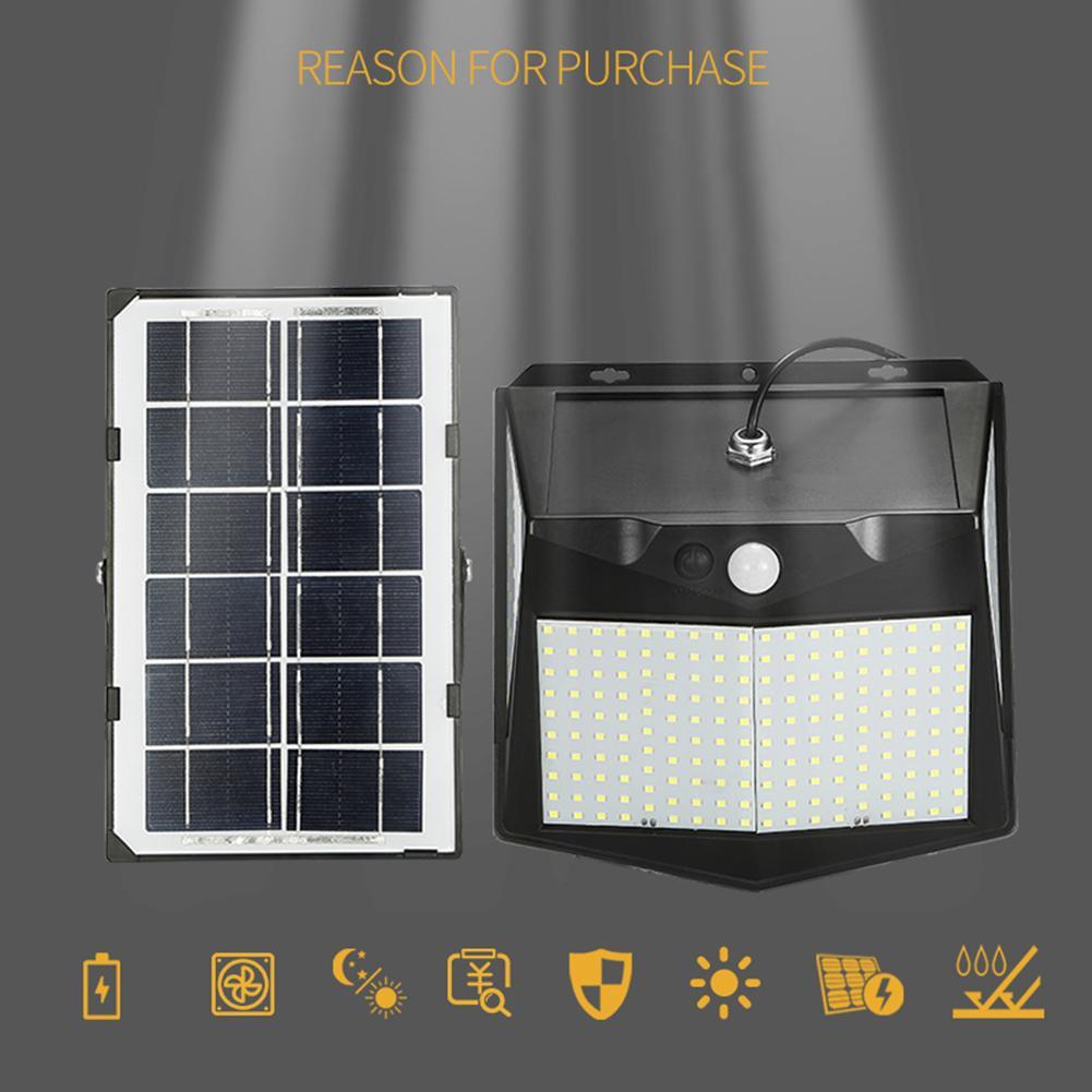240 LED-Solarlicht 3 Modus Bewegungsmelder Wandleuchten Lichtsteuerung Wasserdichte Outdoor-Garten-Solarlampen für Garten Pathway