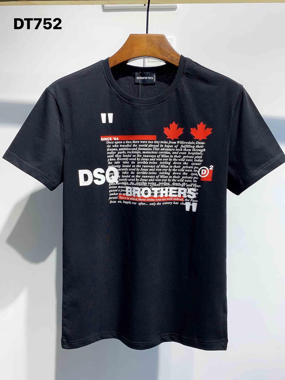 DSQ T-shirts Herren Designer T-shirts Schwarz Weiß Männer Sommer Mode Casual Streetwear T-Shirt Tops Kurzarm Größe M-XXXL 3220