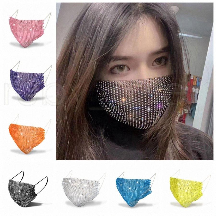 Bling Bling Diamant-Designer Masken Mode Sonnenschutz Staubdichtes Breathmundschutz Strass Gesichtsmasken 11styles RRA3412 QCcg #