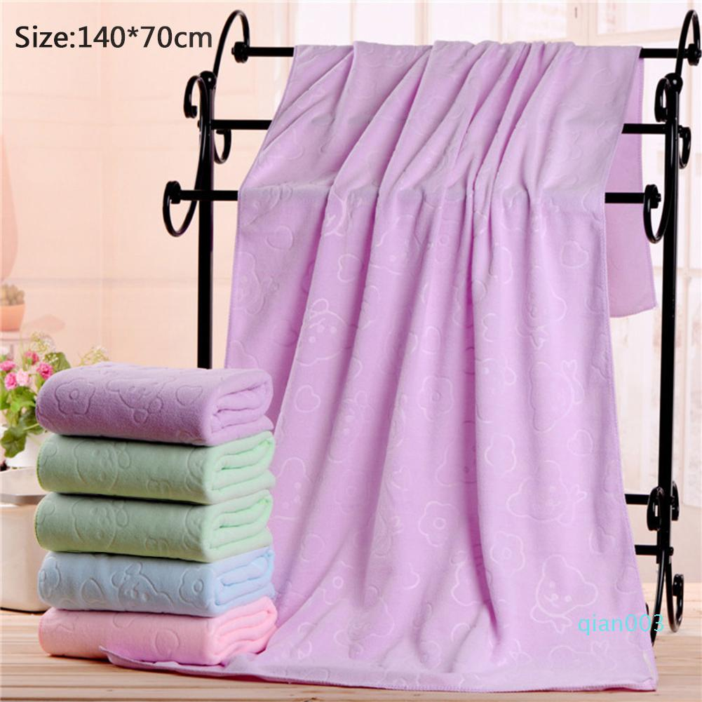 Microfiber Little Bear Patterns Embossed Beach Towel Super Absorbent Sport Towels Gym Fast Drying Large Quick-dry Bath Towe lp0036