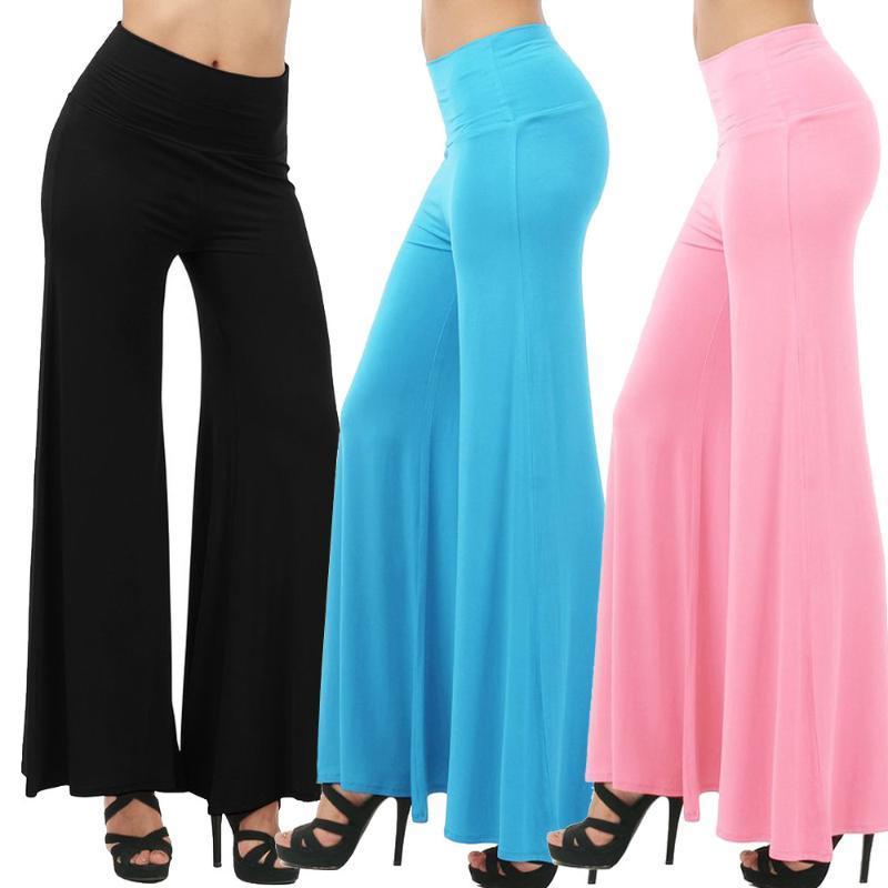 Artı Boyut S-3XL Yoga Tozluklar Kadınlar Katı Gevşek Yüksek Bel Bloomers Dans Full Sport Gym Yoga Pantolon