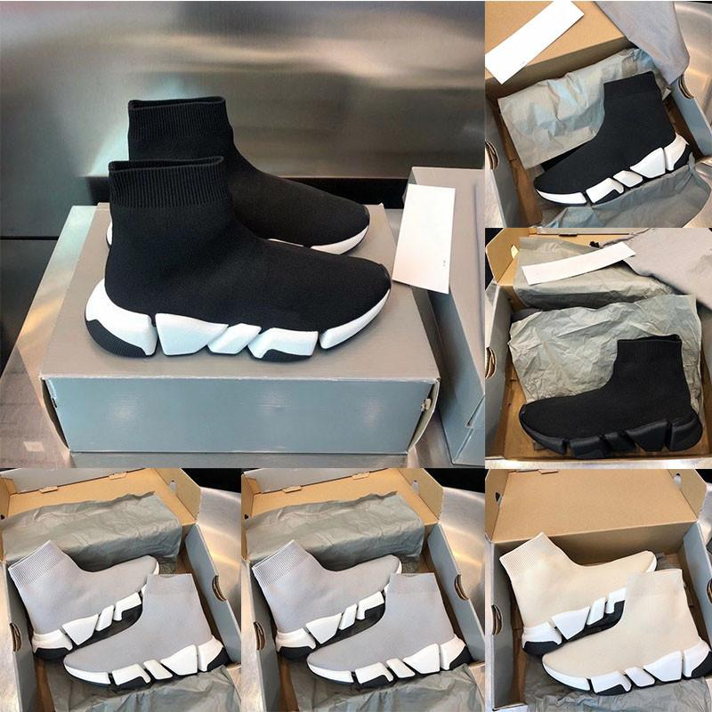 HOT2020 Tasarımcı Ayakkabı Hız Trainer Platformu Rahat Üç Çift Çorap Düz Erkek Ayakkabı Kadın Ayakkabı Moda Boyutu 36-46