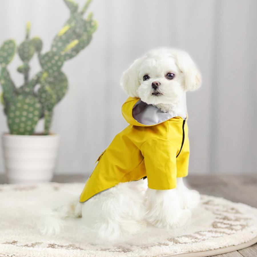 High Quality New Fashion Cute Blue Red Yellow Waterproof Breathable Raincoat For Pet Dog Puppy Poodle