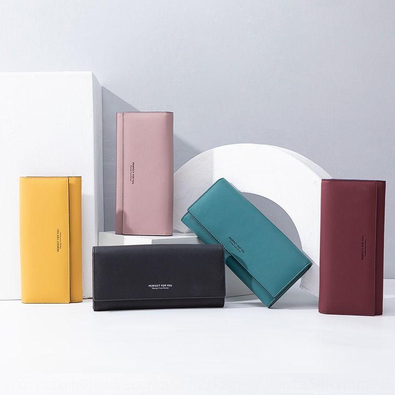 Weichen Nueva perfecto para usted las señoras de Corea de órganos estilo de embrague bolsa de carpeta de la manera de la PU billetera