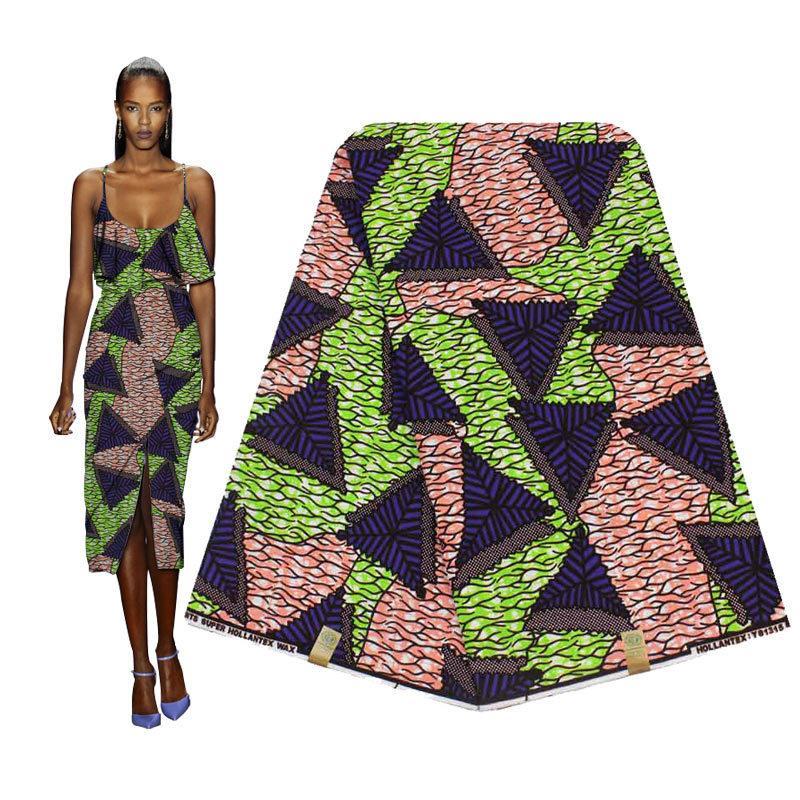 Di alta classe pagne africano 100% cotone Tissu marrone africain reale hollantex Cera Stampe tessuto per il vestito da partito l'uomo H180309s T200810