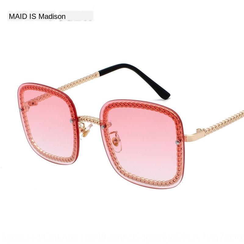 rosa TikTok Box occhiali da sole occhiali da sole nuovo sole tutto ins volto moda delle donne della spiaggia di marca 3447 Oj0ub