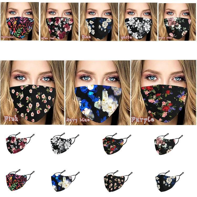 8 styles multi-color fashion face mask dust-proof Anti-fog adjustable washable adult life protective mask China wholesale