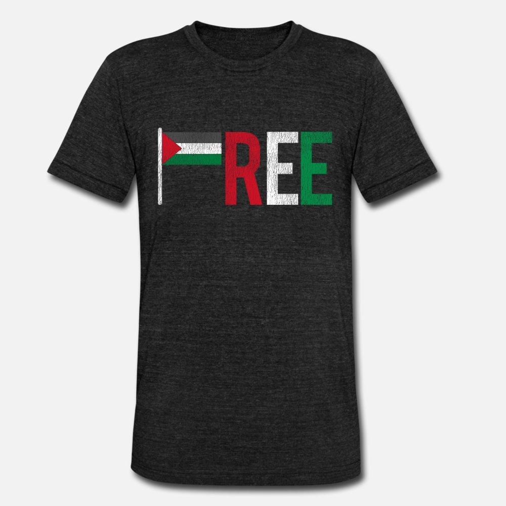 Палестинская тенниска мужчина Полиграфической футболочку плюс размер 3XL Vintage Сумасшедшей Удобной Весна шаблона рубашки