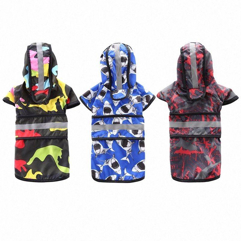 Reflective Segurança Rainwear Para Pet Pequenas e Médias cães grandes Waterproof Jacket Pet capa roupas para cães XS-4XL FQzx #