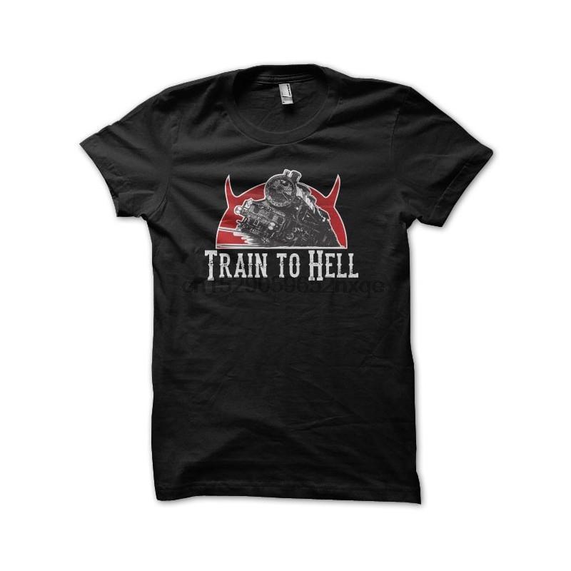 Les hommes T-shirt T-shirt L'enfer sur roues de train pour l'enfer T-shirts noir T-shirt