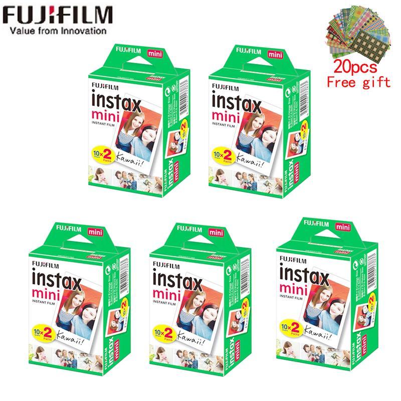 10-200 folhas Instax Mini 11 9 Filme Branco Borda 3 polegadas Filme largo para câmera instantânea Mini 8 7s 25 500 90 Papel foto