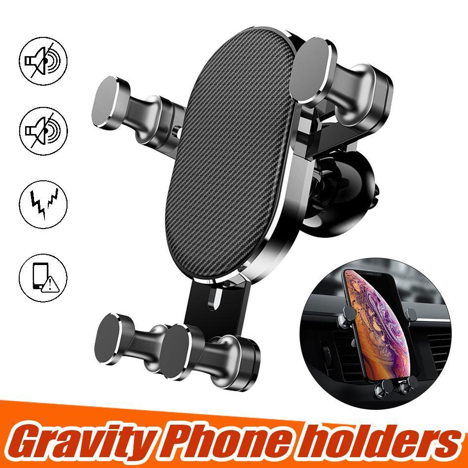 Cgjxsuniversal Auto-Halterung Handy-Halter Gravity Air Vent Stativhalterung 360-Grad-Drehung Verstellklammer für Iphone mit Kleinkasten