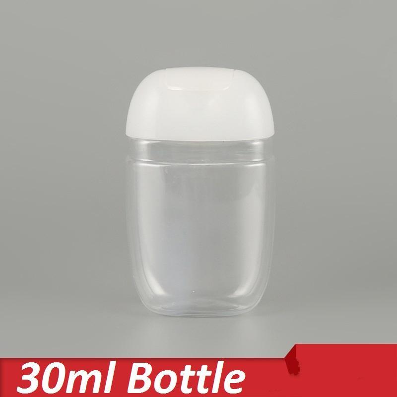 الزجاجات البلاستيكية المحمولة السفر مانعة للتسرب زجاجات الضغط مع فليب غطاء إفراغ إعادة الملء حاويات لHadisinfectant زجاجة المطهر