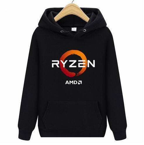 PC CP CPU Uprocessor AMD RYZEN Men hoodies / YENİ 3D / Polyester kapüşonlu sweatshirt İlkbahar Sonbahar Erkek / bayan bisiklet hoodies women2019