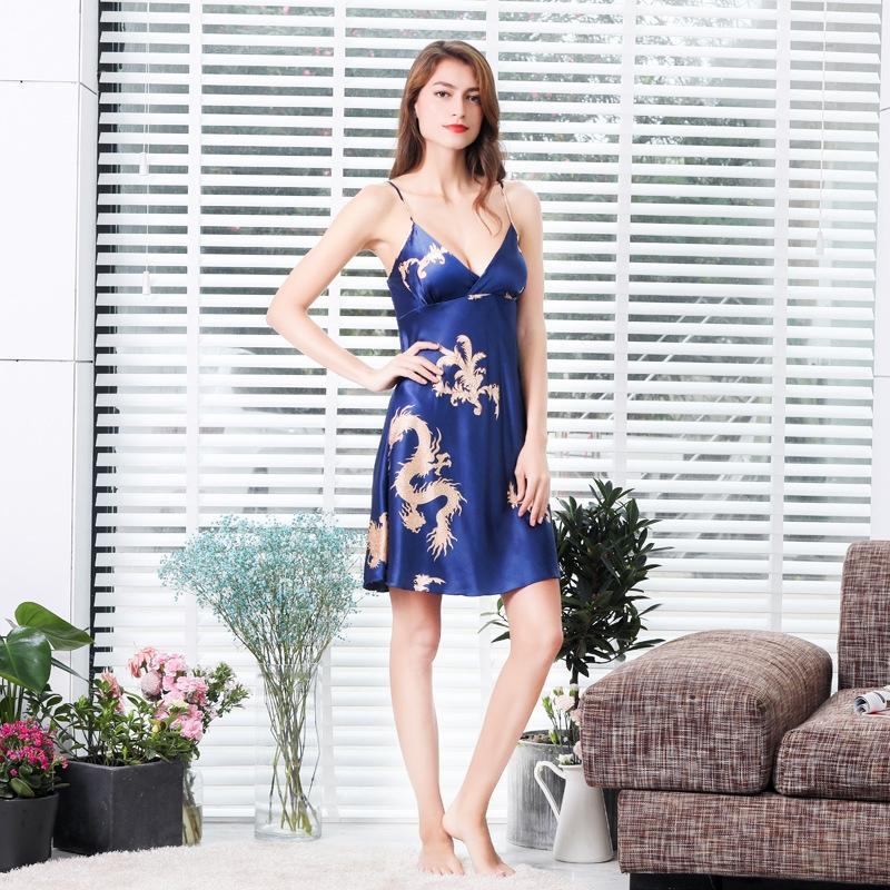 g7vJg due pezzi accappatoio imitazione di seta più estate dimensioni casa accappatoio abiti camicia da notte degli uomini sottili del pigiama della donna della coppia casa pigiama clo