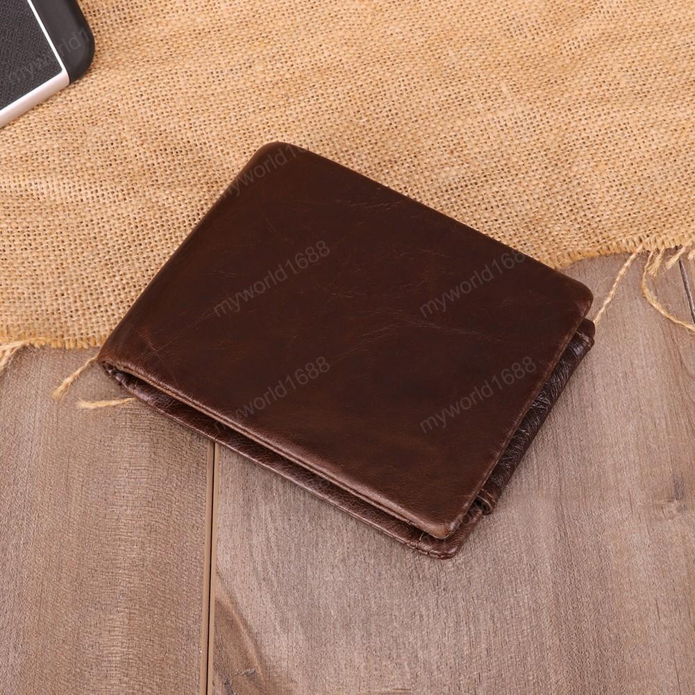 Cuoio genuino degli uomini Portafoglio con il supporto di carta L'uomo di lusso Breve borsa del portafoglio cerniera Portafogli Casual borsa Maschio