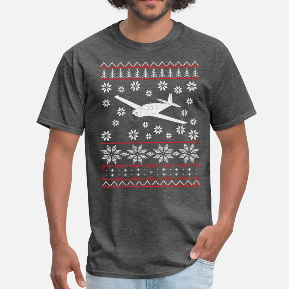 Piloto del aeroplano Aviones regalo de Navidad Flying hombres de la camiseta Impresa 100% de algodón de la moda S-3XL Cartas Fit otoño del resorte de la camisa delgada