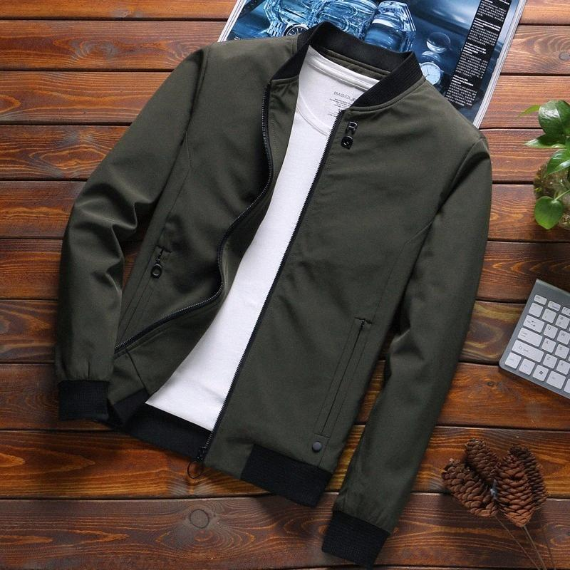 En Yeni Katı Sonbahar Erkek Bombacı ceketler Erkek Casual Fermuar Yaz Ceket Erkekler İlkbahar Casual Dış Giyim Erkekler İnce Ceket SA 8 Yağmur Ceket Bi zrQV #