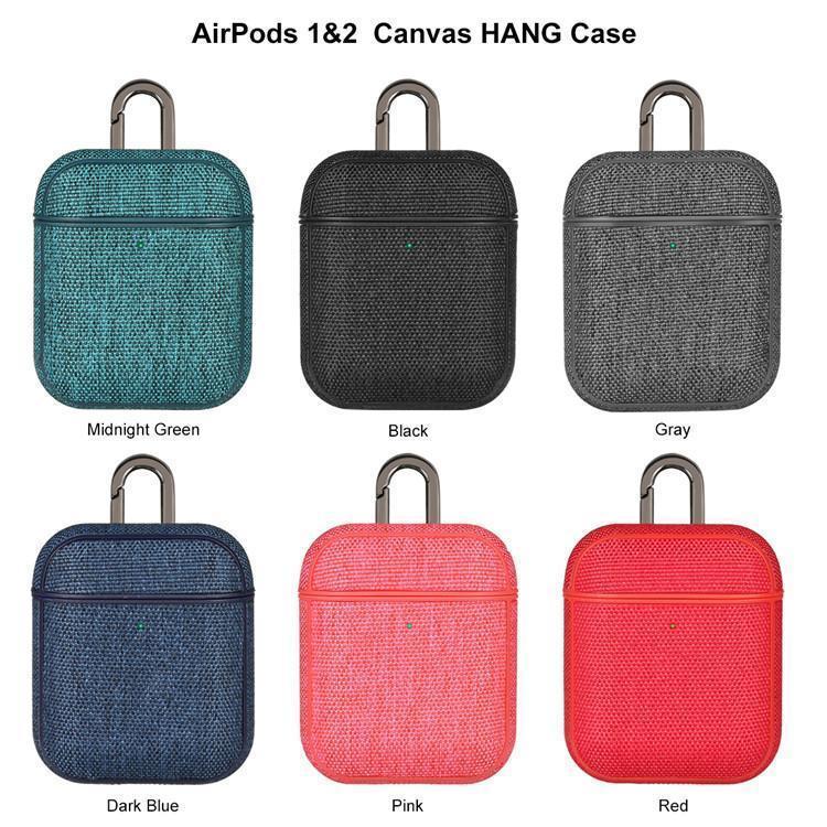 Canvas colorato auricolare di caso per Airpods riservati ricarica Hole Retro auricolare Bluetooth di caso per Airpods 2 Full Cover di protezione