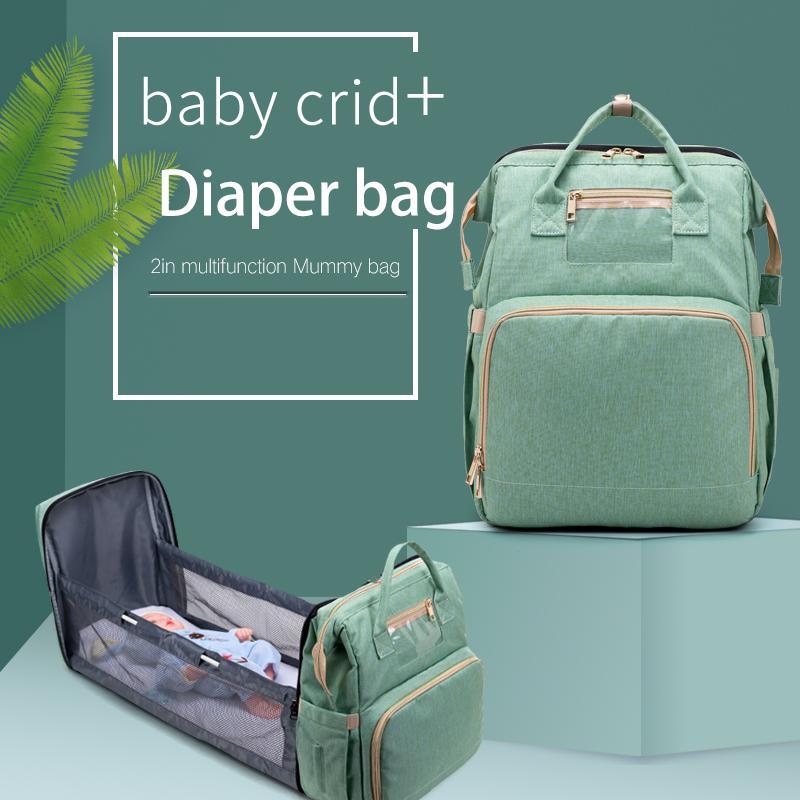De gran capacidad del pañal del bebé bolsa de maternidad impermeable Bolsas para cochecito pañal bolsa de gran capacidad multifunción Momia Bolsas