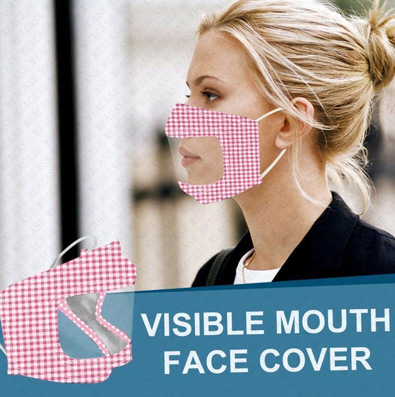 sağır ve dilsiz Sağır-dilsiz D72802 görebilir ağız yüz örtüsü tam koruyucu yüz maskeleri tasarımcı yüz maskesi kamuflaj net patchwork maskeleri