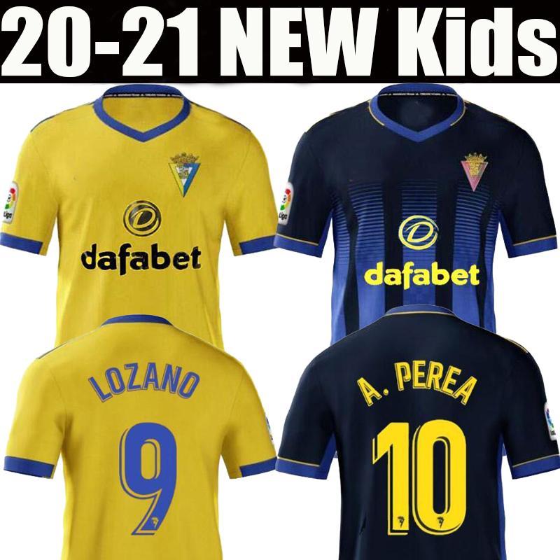 2020 2021 de futebol Cadiz jerseys Cádiz CF Camisetas de fútbol 20 21 LOZANO ALEX camisas de futebol Bodiger Juan Cala CAMISETA A LIGA MEN + KIDS