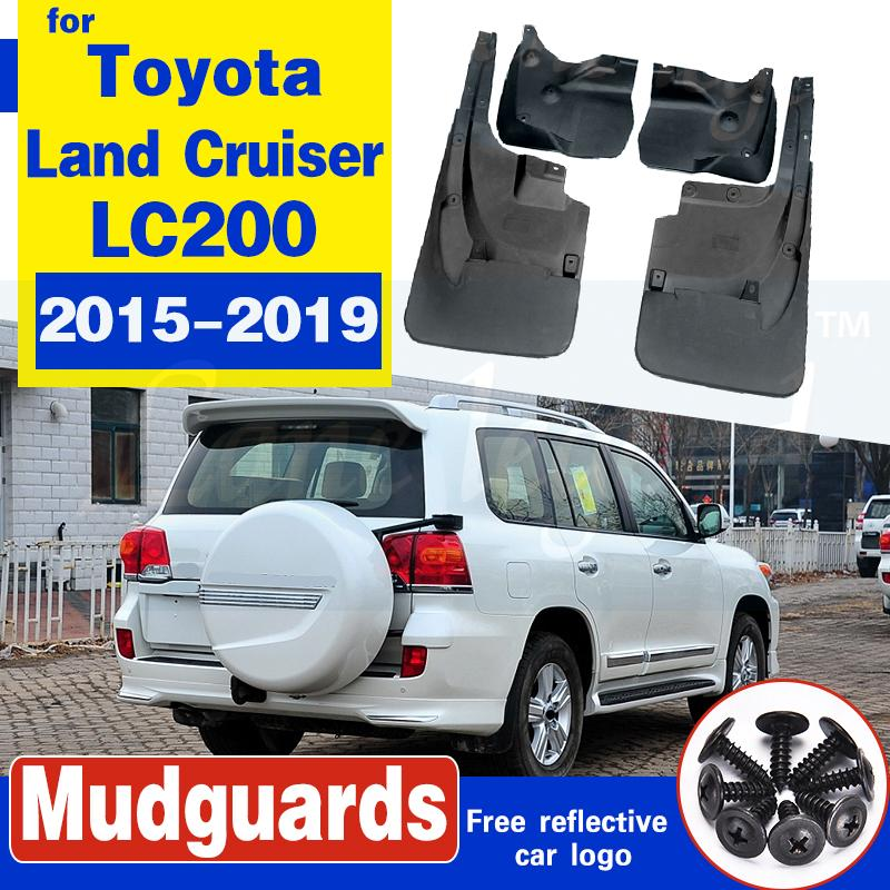 Bavettes pour toyota Land Cruiser LC200 2015-2019 garde-boue gardes ailes voiture accessoires auto de 4PCS