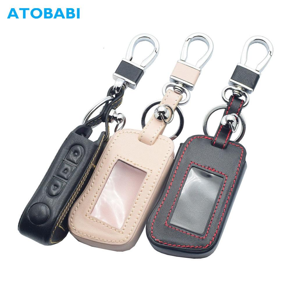 Real Leather Car Key Case For Starline A93 A63 A36 A39 A66 A96 Two Way Car Alarm L Remote Control Keychain Protect Cover Skin