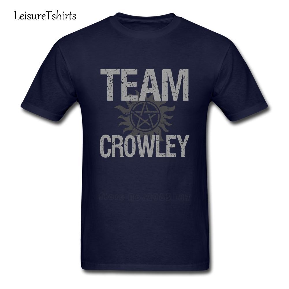 Supernatural-Team Crowley T Shirt Mann Neuestes einzigartige T-Shirt Sommer-lose T-Shirts Männer Kurzärmeliges 100% Cotton Club Dad Top
